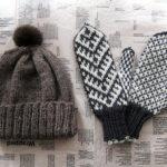 アルパカのニット帽と「暮しの手帖」の編み込みミトン