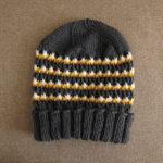 4色ボーダーの帽子