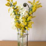 3月8日はミモザの日。部屋にミモザを飾りました