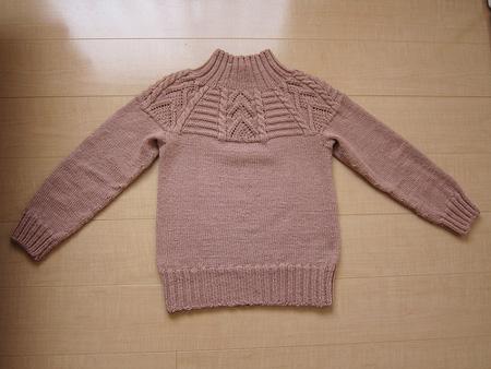 ミックス模様の丸ヨークセーター