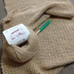 かぎ針編みでスヌードを編みました
