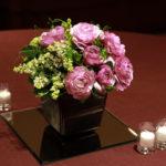 『春』をイメージした会場装花とこだわりのブーケ