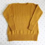 『編みものともだち』のガンジーセーターを編みました