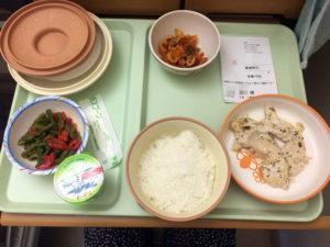 術後2日目の夕食