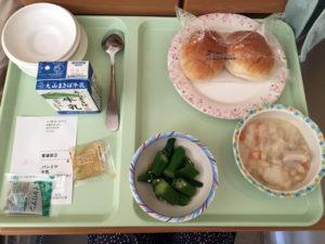 退院日の朝食